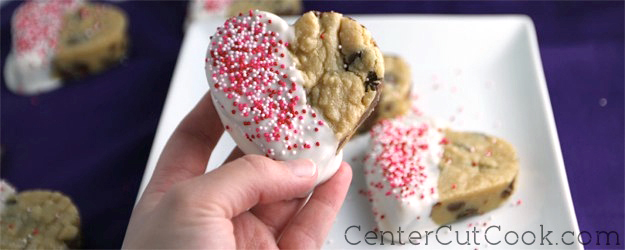 Dipped Chocolate Chip Cookies