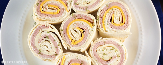 Ham and cheese pinweels