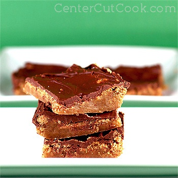 Chocolate blondie bars
