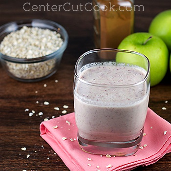 Cran apple oatmeal smoothie 2
