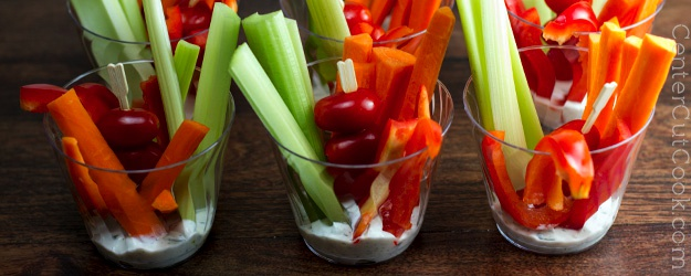 Veggie Cups with Ranch Dip