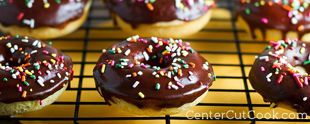 Baked Donuts with Chocolate Glaze
