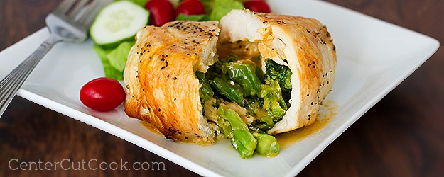 Stovetop Broccoli and Cheddar Stuffed Chicken