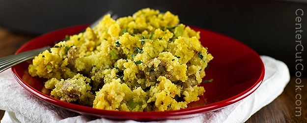 Corn Bread Stuffing with Sausage and Herbs