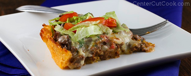Taco Pie with Queso Blanco