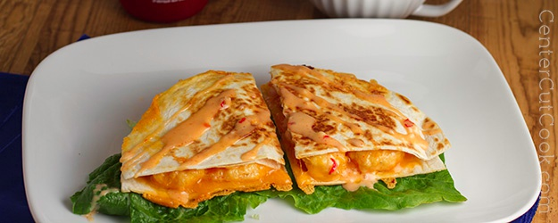Bang bang shrimp quesadillas