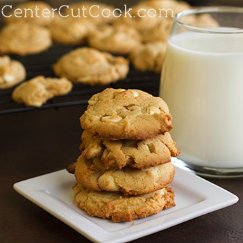 Peanut butter white chocolate chip cookies 2