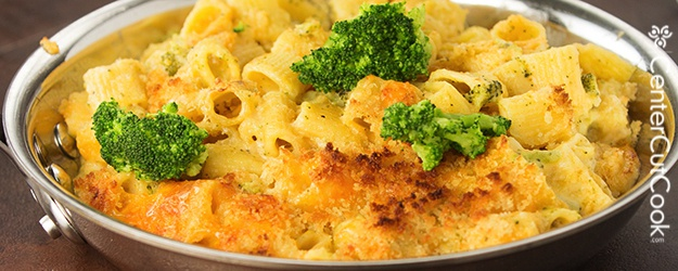 Creamy Four Cheese Baked Pasta Skillet