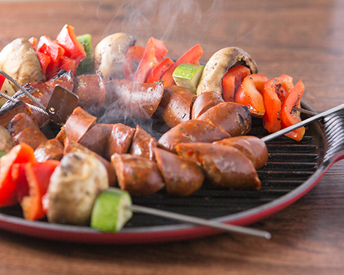 Enter to win a Le Creuset Bistro Grill + Fire Wire flexible grilling ...