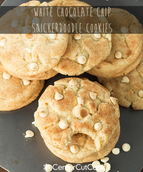 White Chocolate Chip Snickerdoodle Cookies Recipe