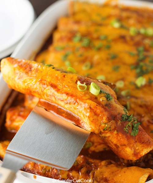 Spicy cheese and beef enchiladas 4