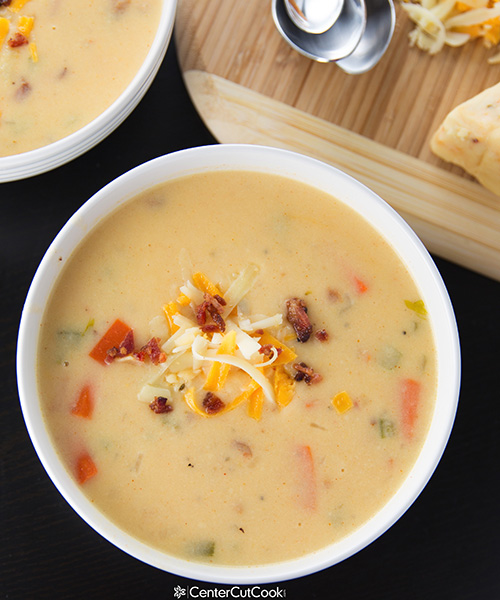Spicy Wisconsin Cheese Bacon Soup 4