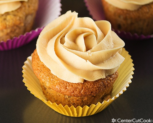 Banana Cupcakes with Peanut Butter Frosting Recipe
