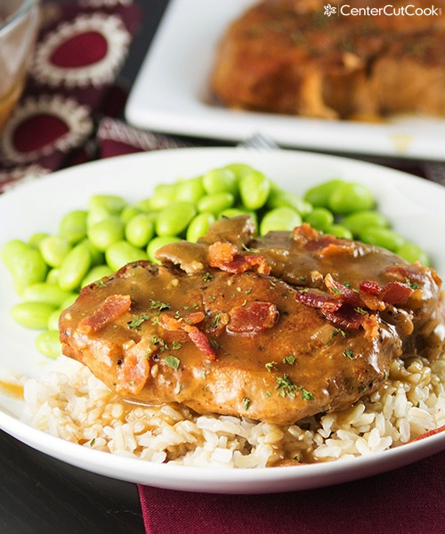 Slow cooker smothered pork chops 5
