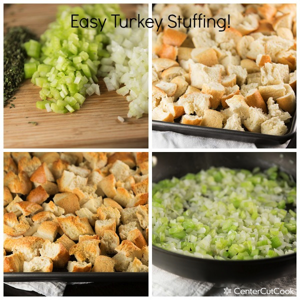 Turkey stuffing collage