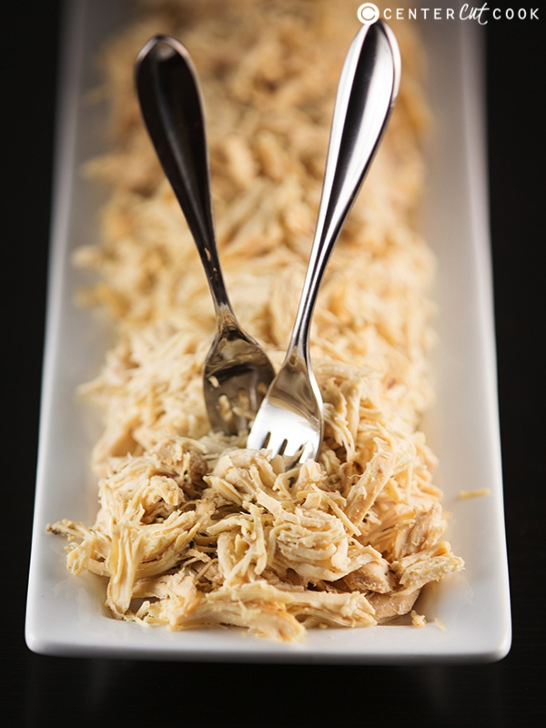 Easy slow cooker shredded chicken 4