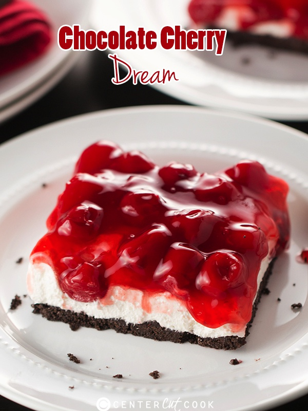 Homemade Chocolate Cake With Cherry Pie Filling