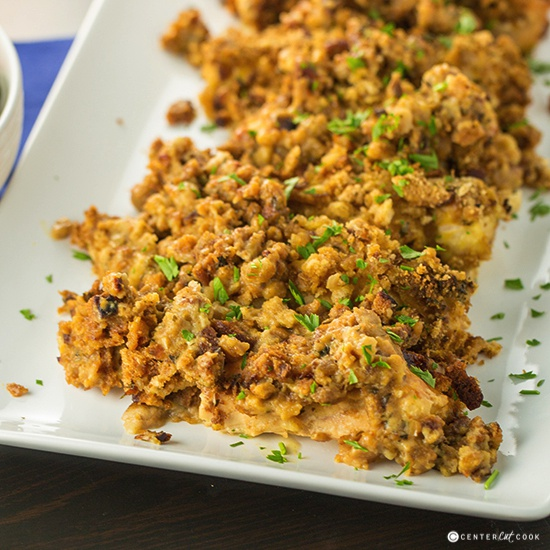 Slow Cooker Cheesy Chicken & Stuffing