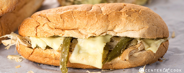 Slow Cooker Chicken Philly Sandwiches