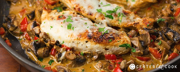 One Skillet Cheesy Italian Chicken