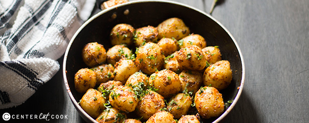 Cumin Crusted Baby Potatoes