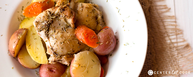 One Pan Roasted Rosemary Chicken