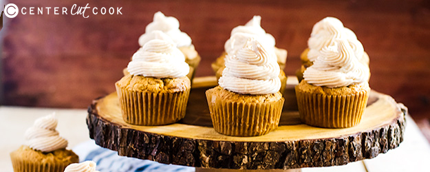 Pumpkin Spice Cupcakes with Cinnamon Frosting
