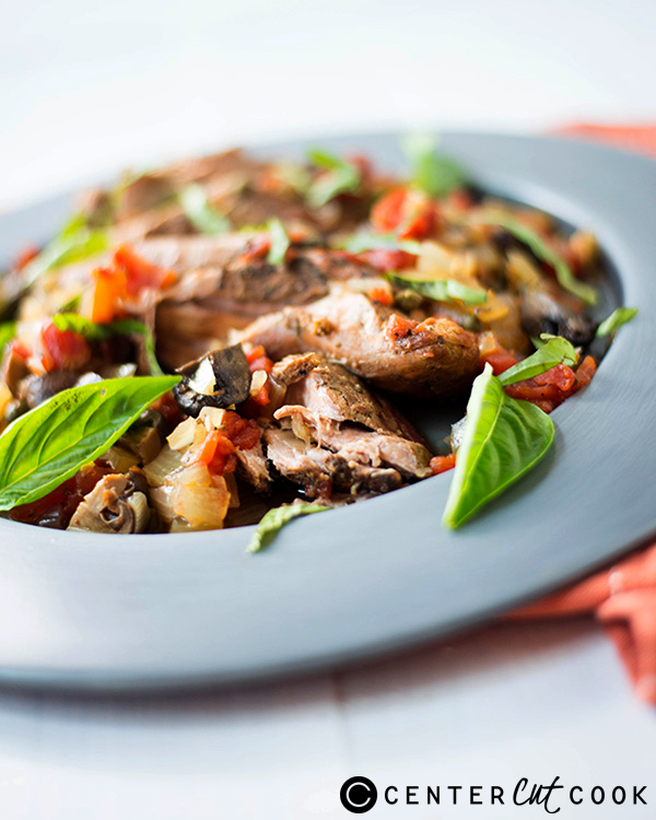 This Slow Cooker Pork Tenderloin Cacciatore is easy, healthy, and ...