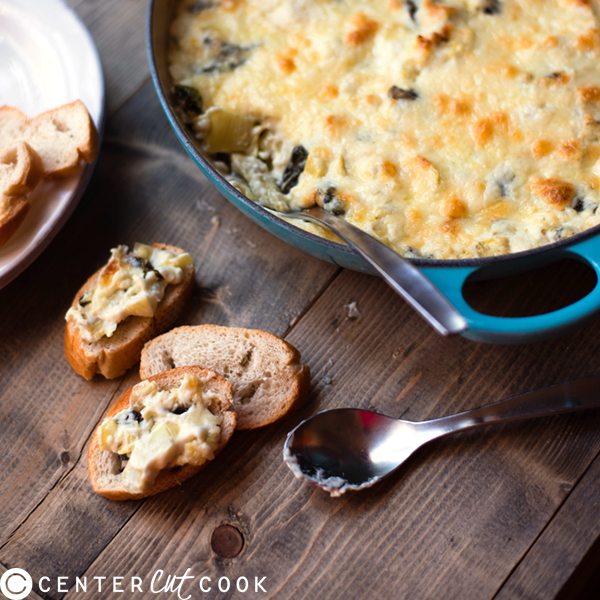 Four Cheese Spinach and Artichoke Dip