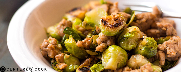 One Pan Chicken Italian Sausage and Brussels Sprouts