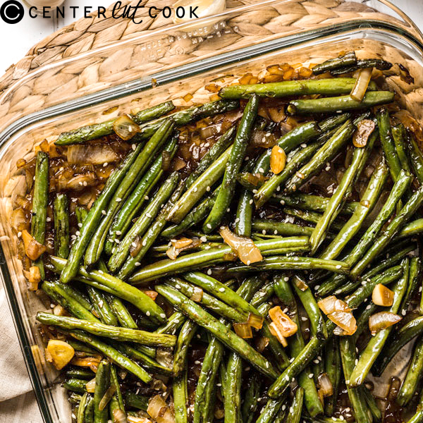 Pan Roasted Green Beans with Garlic Sauce