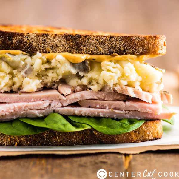 Thanksgiving Leftovers Club Sandwich