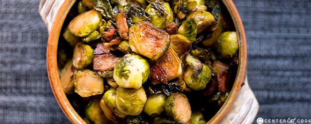 Maple and Bacon Brussels Sprouts