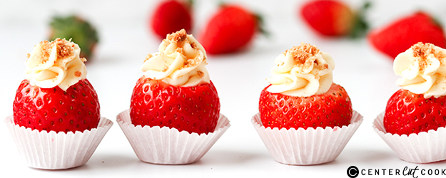 cheesecake stuffed strawberries 1
