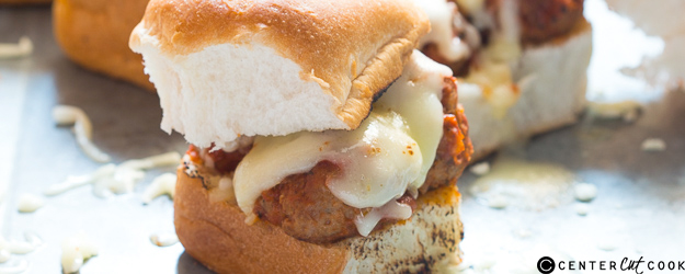 Cheesy Italian Meatball Sliders