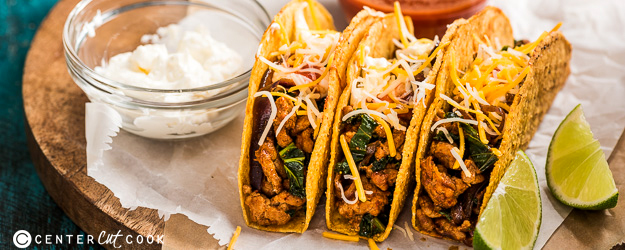 Chorizo Tacos with Kale
