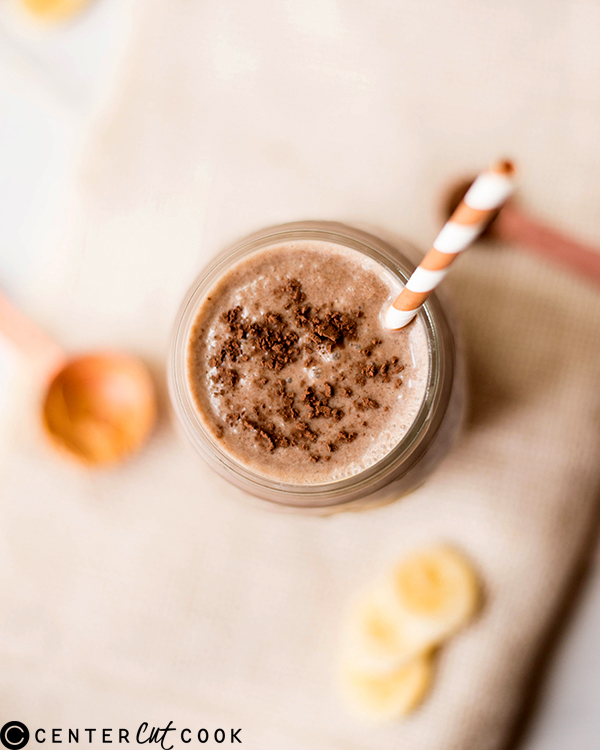 healthy chocolate peanut butter smoothie 2