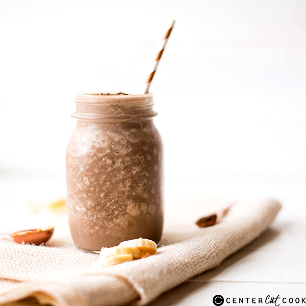 healthy chocolate peanut butter smoothie 3