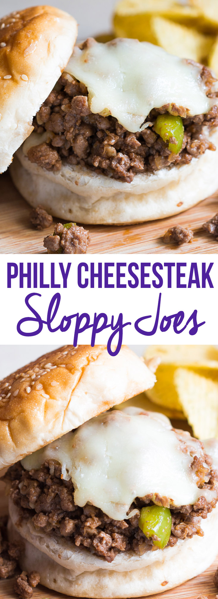 philly cheesesteak sloppy joes pin