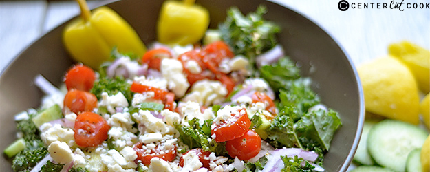 chopped kale greek salad 1