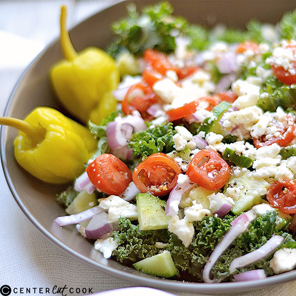 Chopped Kale Greek Salad Recipe