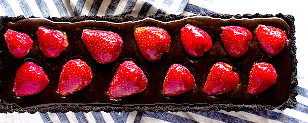 chocolate strawberry tart 1
