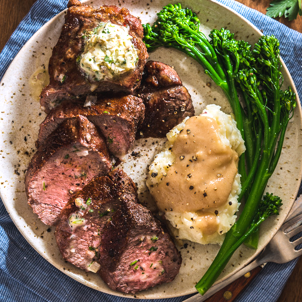 Grilled Steak with Compound Butter