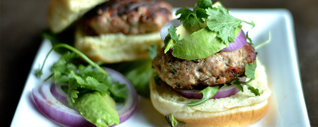 grilled chipotle cilantro turkey burgers 1