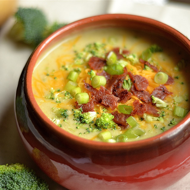 instant pot cheddar broccoli  potato soup 3
