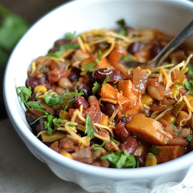 instant pot vegetarian chili 3