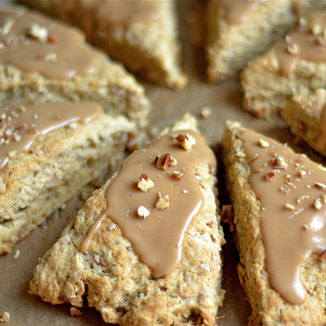 Maple Oat Pecan Scones Recipe