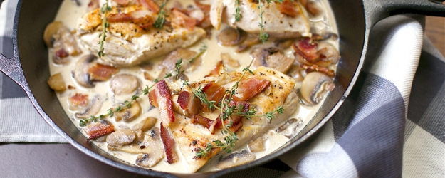 Creamy Skillet Chicken with Bacon