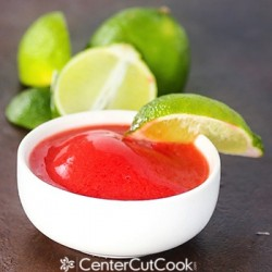 Strawberry Lime Sorbet