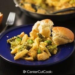 Cheddar, Broccoli and Chicken Pasta Skillet